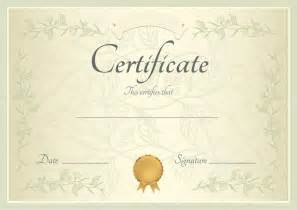 certificate of completion template or sample background