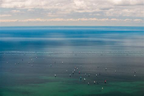 sailboats ontario aerial photo sailboats on lake ontario