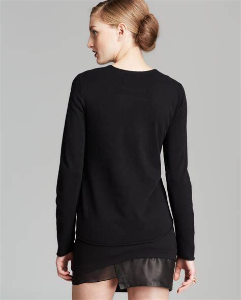 Boxi Sweater Dusty sweater intarsia legs boxy in black lyst