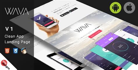 themeforest app landing page themeforest wava v1 0 app landing page 12787842