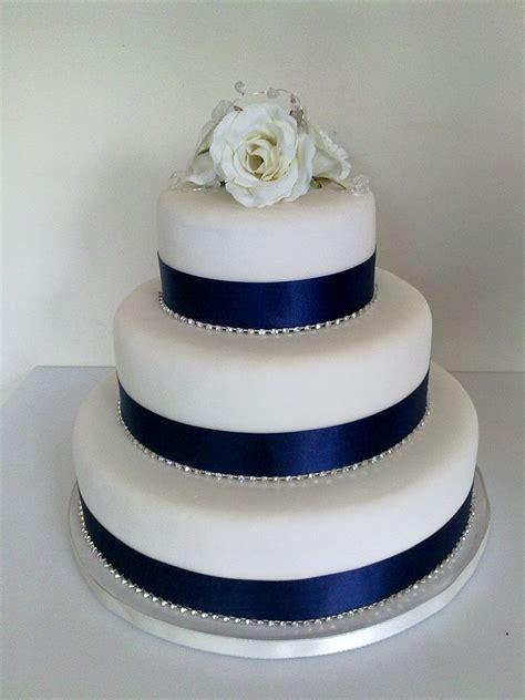 Navy Wedding Cake Decorations   Ribbon   CHWV   CHWV