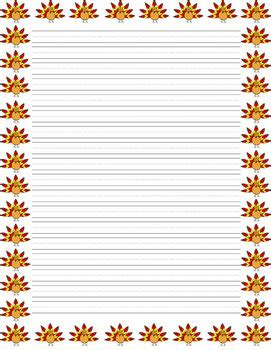 lined paper with turkey border thanksgiving writing pack cute turkey border paper
