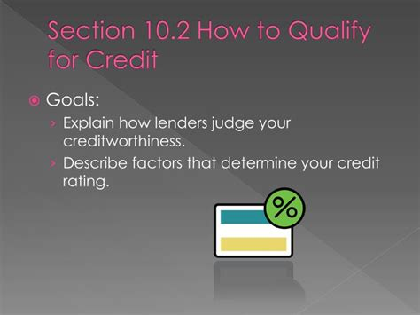 what do u need to qualify for section 8 ppt unit 7 credit you re in charge powerpoint
