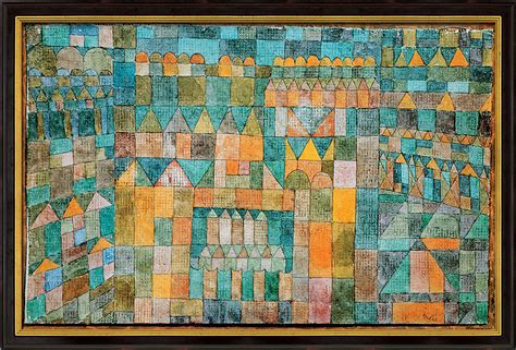 Home Interior Painting Ideas by Quot Temple Quarter Of Pert Quot By Paul Klee Reproduction