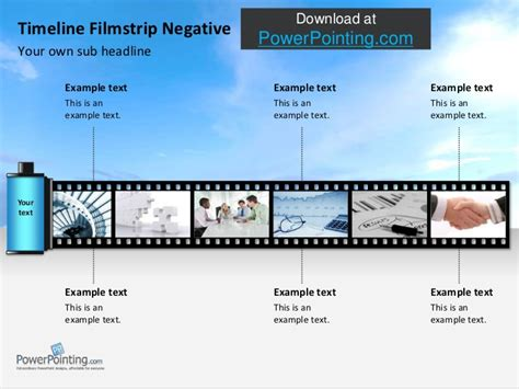 filmstrip powerpoint template powerpoint timeline roll