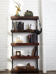 Decoupage Bookcase Industrial Rustic Bookshelf Hgtv