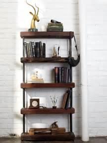 Industrial rustic bookshelf hgtv