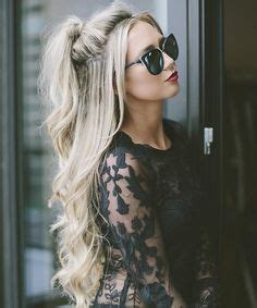 half curly half straight hair 1000 ideas about half ponytail on pinterest curly