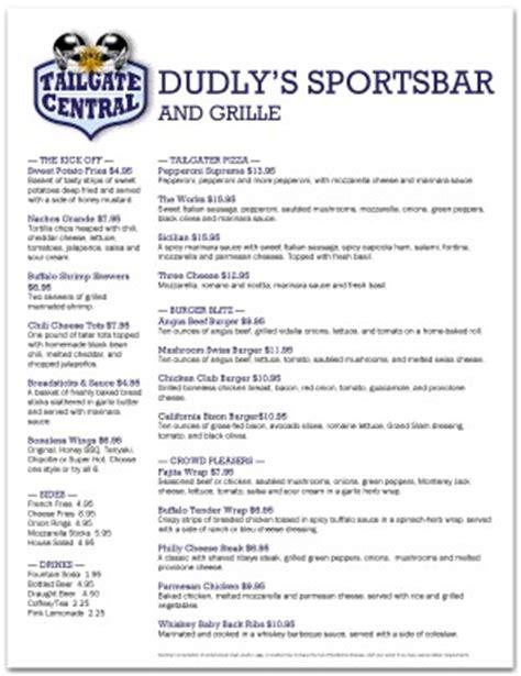 fantasy football menu template sports bar menus