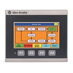 """kendall electric inc 2711r t4t ab panelview 800 4.3"""" hmi"""