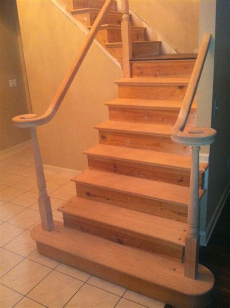 Pine Stair Treads Install : Stylish Pine Stair Treads