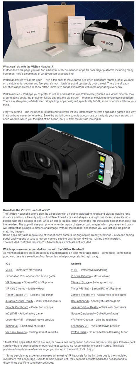 Original 1 Set Box 3d App Glasses Lens For 1 vr box 2 mount reality vr headset bluray proof 3d