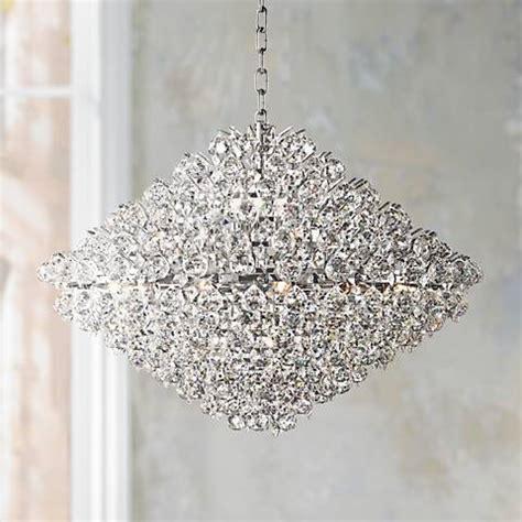 ls plus vienna full spectrum essa 31 1 2 quot wide crystal pendant chandelier w6869