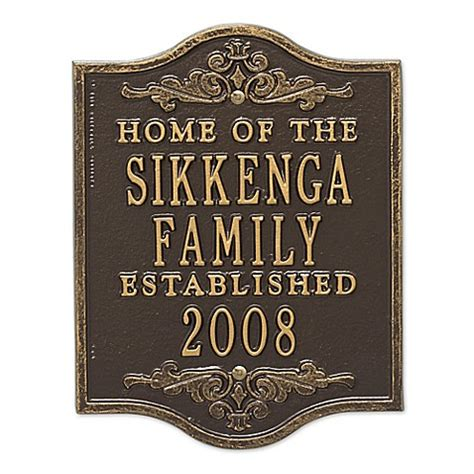 the plaque for the alternates is in the room buy buena vista anniversary wedding plaque in bronze gold from bed bath beyond