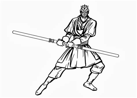 coloring pages darth maul wars darth maul coloring pages 01 matej