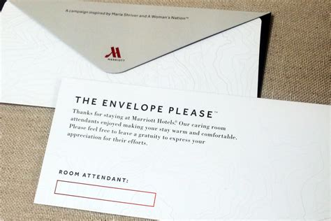hotel room tip marriot hotels are pressing visitors to tip their new york post