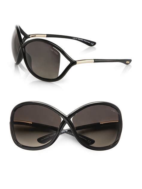 tom ford 64mm polarized injected sunglasses in