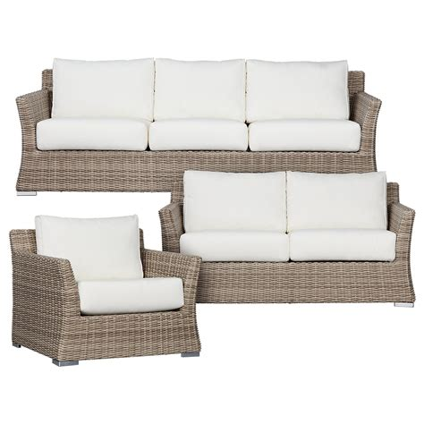 outdoor living room set raleigh white woven outdoor living room set