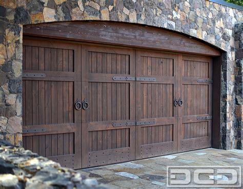 This Tuscan Style Garage Door Was Handcrafted In Solid Overhead Door Styles