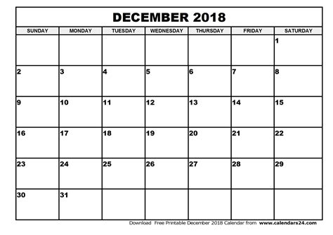 Calendar 2018 January To December December 2018 Calendar January 2018 Calendar