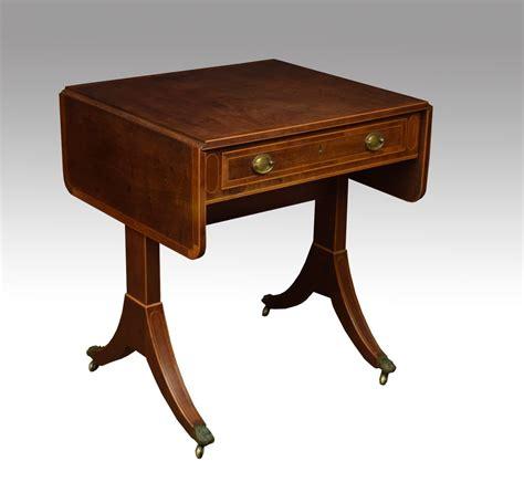 Regency Mahogany Sofa Table Of Small Proportions Antique Sofa Table