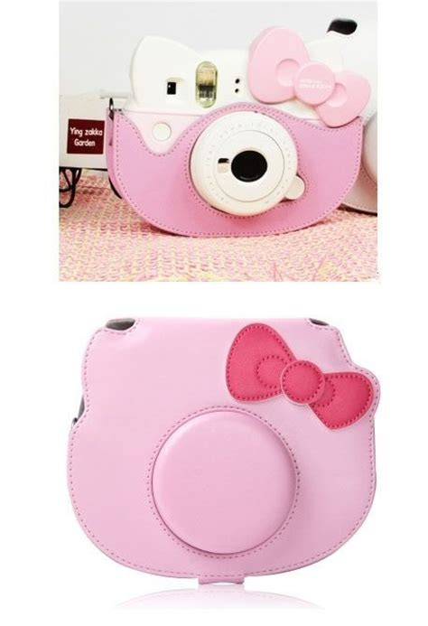 Fujifilm Leather Bag Polaroid Instax Mini 8 Hello Diskon leather bag for fujifilm polaroid instax mini hello 40th pink polaroid