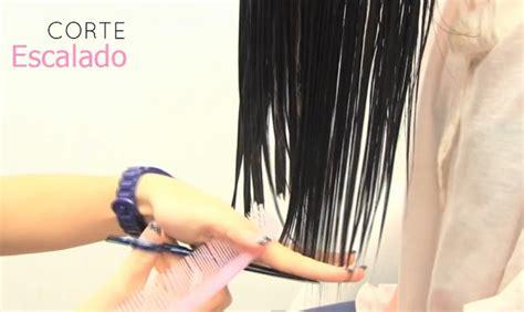 cortar pelo escalado corte de cabello escalado o degrafilado peinados y