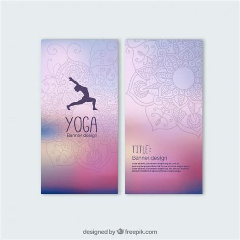 banner design for yoga colorful yoga banners vector free download
