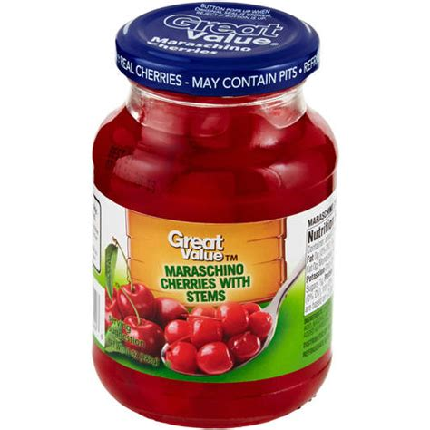 best maraschino cherries great value maraschino cherries 10 oz walmart