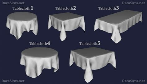 tablecloth sims  updates  ts cc downloads
