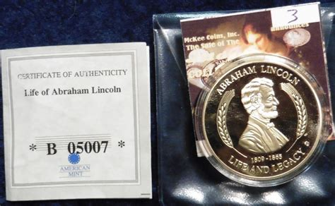 life of abraham lincoln gold coin 2011 life of abraham lincoln gettysburg address medal