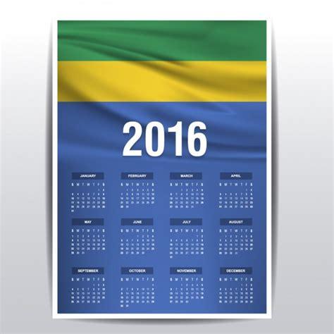 Gabon Calendario 2018 Calendario De Gab 243 N De 2016 Descargar Vectores Gratis