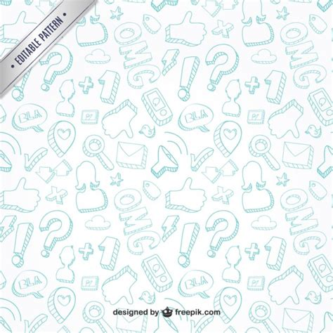 whatsapp layout vector communication doodles pattern vector free download