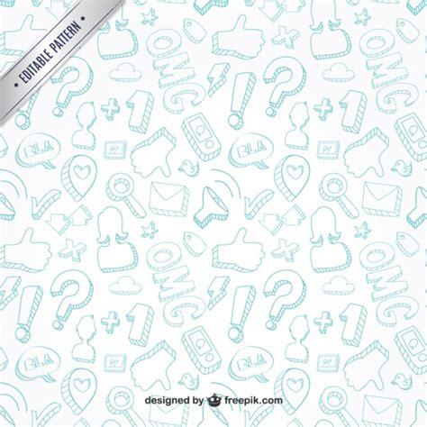 doodle vectors free communication doodles pattern vector free
