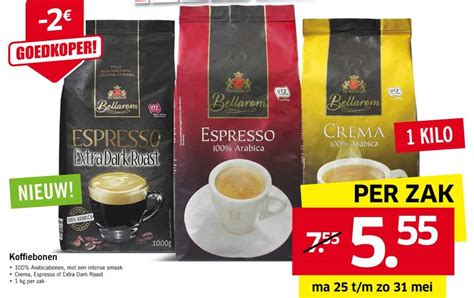 lidl koffiebonen 2015 bellarom koffiebonen folder aanbieding bij lidl details