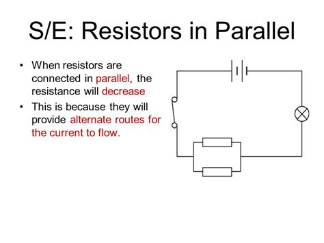 total resistance of resistors connected in parallel volume b chapter 18 electricity ppt