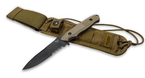 benchmade bowie knife benchmade 140sbksn nimravus comboedge fixed blade knife