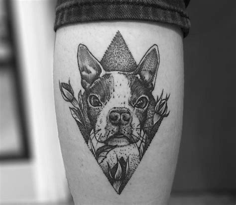 boston tattoos designs boston terrier black bt