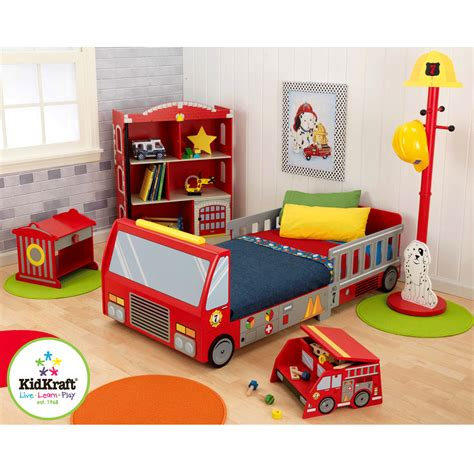 firetruck bedding fire truck toddler bed kidkraft 76021 kids stuff