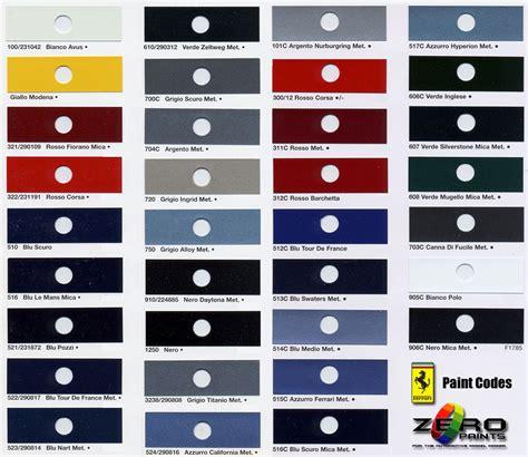 aston martin colour chart maserati paints 60ml zp 1007 zero paints