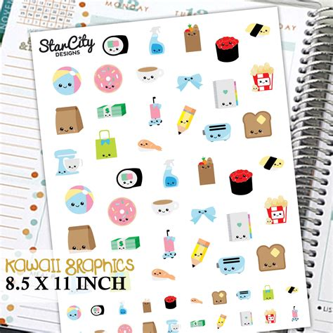 cute planner stickers free printable printable kawaii stickers kawaii planner stickers any