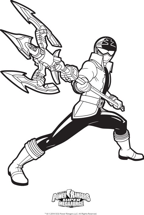 Power Rangers Megaforce Coloring Pages | power rangers coloring pages bestofcoloring com