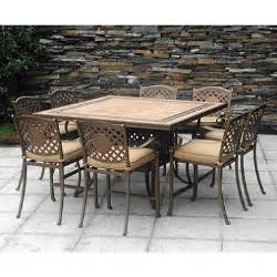High Top Patio Table Set Chateau Patio High Dining Set 9 Pc Outdoor Furniture Patio Furniture New