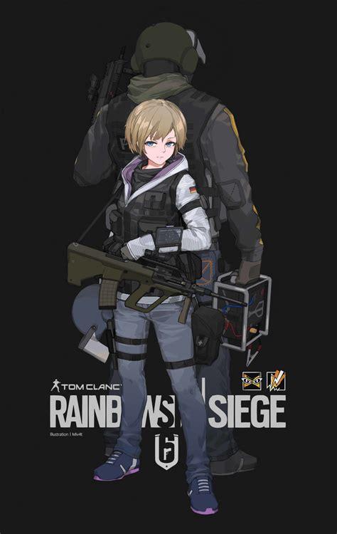 X Anime Siege by Artstation Rainbow Six Siege Fan M4 Miv4t
