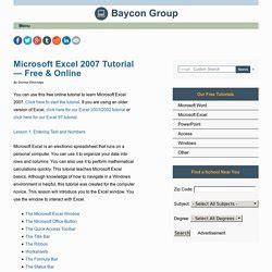 online tutorial excel 2007 microsoft pearltrees