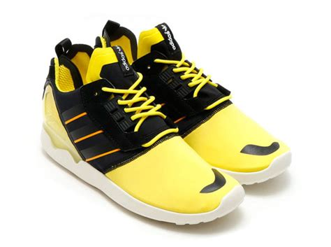 adidas zx  boost bright yellow sneaker bar detroit