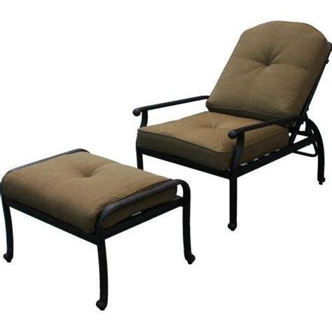 Darlee Elisabeth Adjustable Cast Aluminum Outdoor Patio Outdoor Patio Chairs With Ottomans