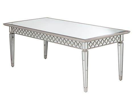 bentley mirrored dining table high style