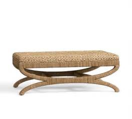 seagrass coffee table ottoman pottery barn