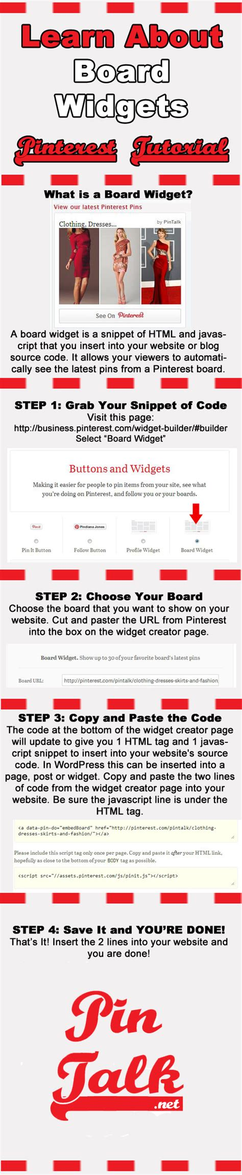 javascript widget pattern tutorial pinterest board widgets pintalk net